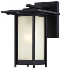 Westinghouse 6203800 - Wall Fixture Textured Black Finish Frosted Glass